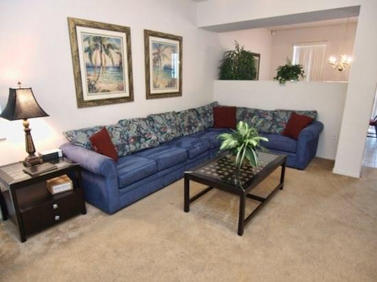 Living Area - TC5P233SRD Lovely 5 Bedroom Villa with Lake View and WiFi - Orlando - rentals