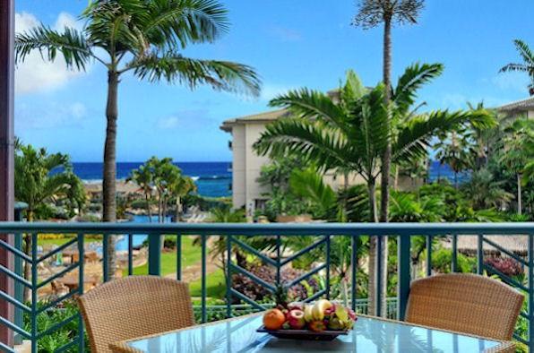 Lanai Outdoor Dining - Waipouli Beach Resort D204 - Kapaa - rentals