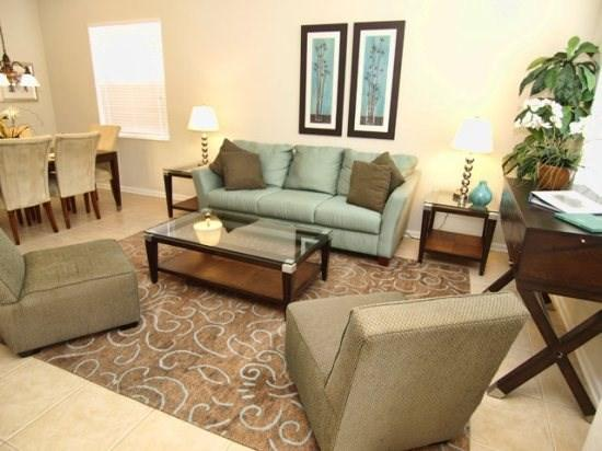 Living Area  - WH6P7743TB 6 BR Villa with Excellent Amenities Near Parks - Orlando - rentals