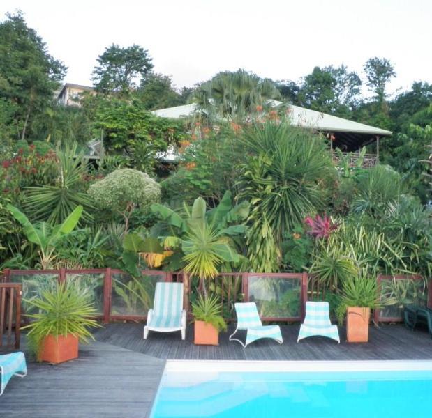 Vieuw from pool to Domaine Lizardy - Domaine Lizardy - Pointe-Noire - rentals