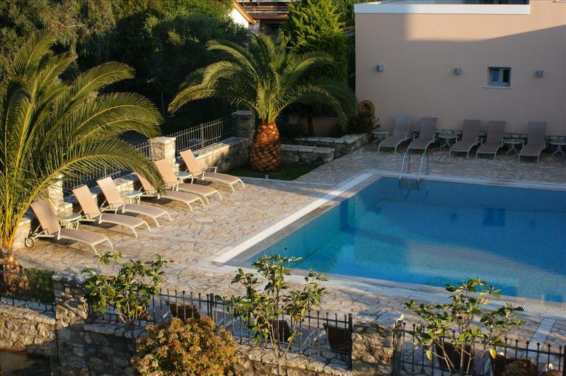 """View to the pool of Harmony from above - Harmony Hotel Apartments """"IRIS"""" for 2-3 Persons - Peloponnese - rentals"""