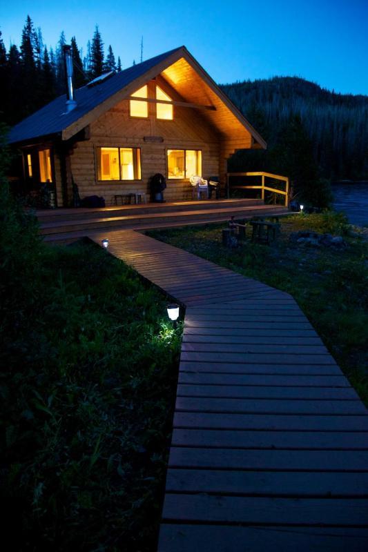 Tesla at Night - Tesla Lake Lodge- Wilderness Getaway - Burns Lake - rentals
