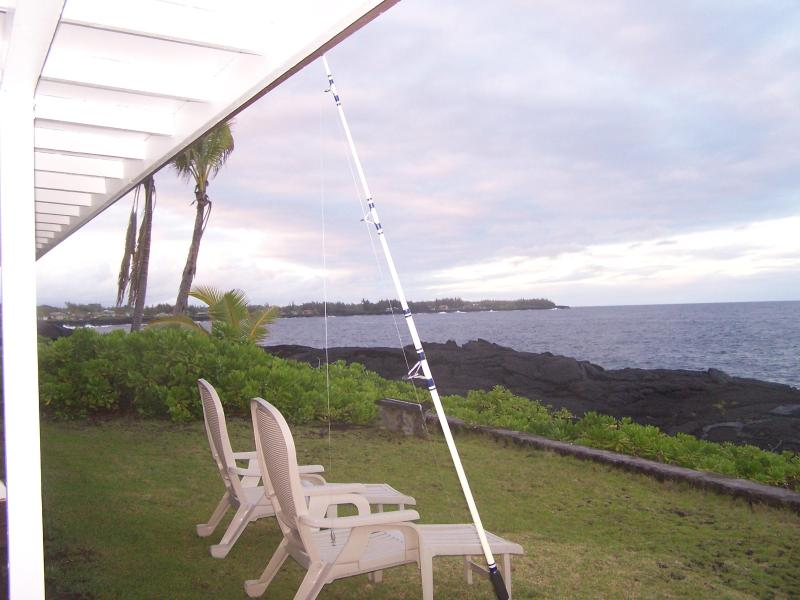 Relax & fish from the bluff! - Oceanfront 3 Bedroom Alohahouse on the Puna Coast! - Keaau - rentals