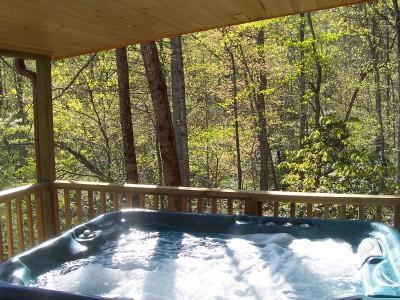 Each Cabin has  Hot Tub on the Covered Porch - A Country Retreat at Clear Creek Cabins - Asheville - rentals