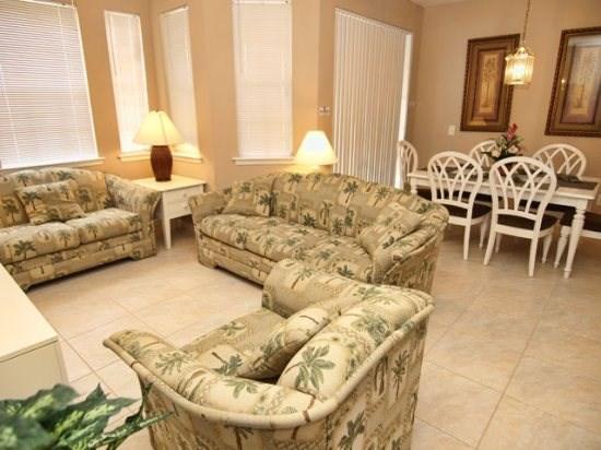 Living Area - TR4C201TRC 4 Bedroom Condo in a Luxurious Community - Davenport - rentals