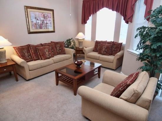 Living Area - TR4C205TRC Fully Furnished 4 Bedroom Condo Near Disney - Davenport - rentals
