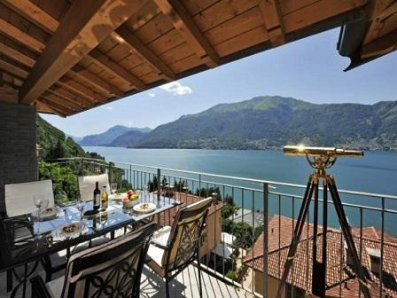 Lake Front Living! - Bella Dorio - 2 bed penthouse apartment Lake Como - Dorio - rentals