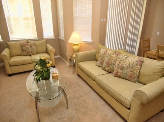 Disney Area Condo Rentals Orlando Fl Living Area - TR3C116TRC Spacious 3 Bedroom Condo Inspired by Modern Decors - Davenport - rentals