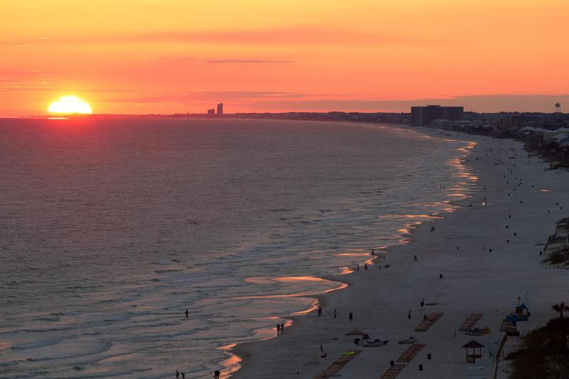 Sunset view from the balcony. Priceless! - #1 Luxurious, Modern, Condo In PCB. Book It Now! - Panama City Beach - rentals
