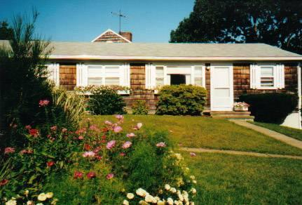 Front of unit - Rustic Vineyard Haven private end unit condo - Vineyard Haven - rentals