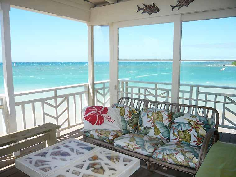 Oceanview from the deck - Coconut Cove - Beachfront Cottage - Paia - rentals