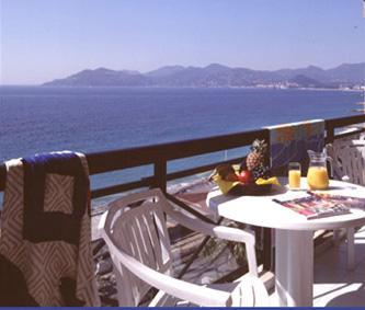 Sea view from balcony - Cannes Charming Holiday Apartment with a Pool and Terrace - Cannes - rentals