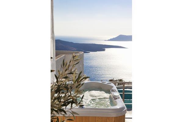 Elegant, spacious villa with breathtaking views from Fira. MED MAI - Image 1 - Santorini - rentals