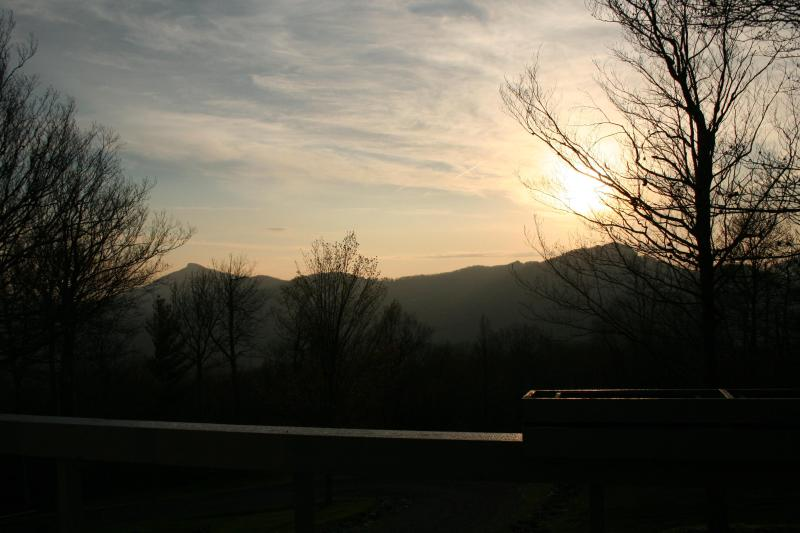 Sun rise around 6:30 AM from deck - Magnificent view, clean, safe and relaxing - Banner Elk - rentals