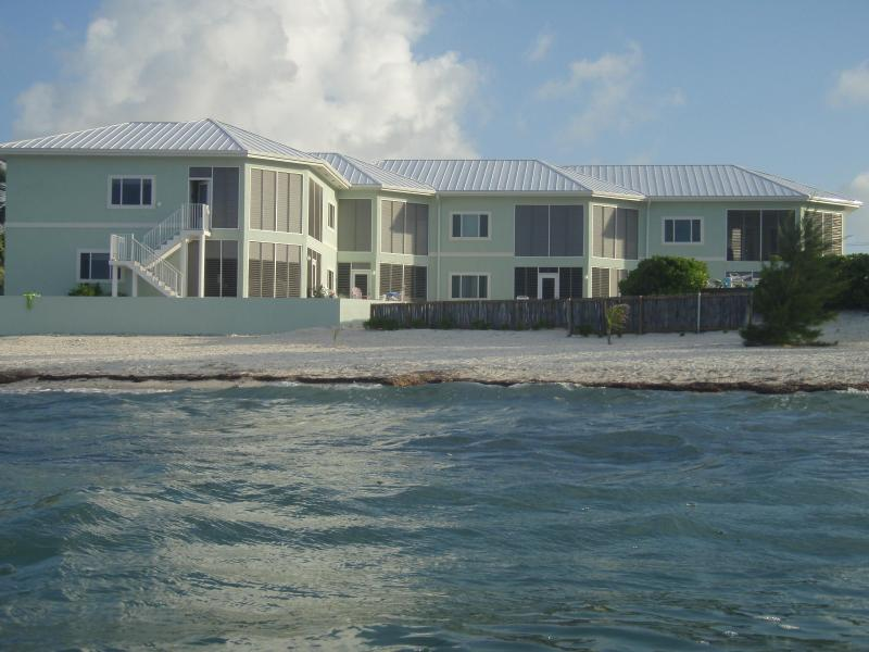 Back of Condo view from in the ocean - Ocean's Edge Grand Cayman Condo - Grand Cayman - rentals