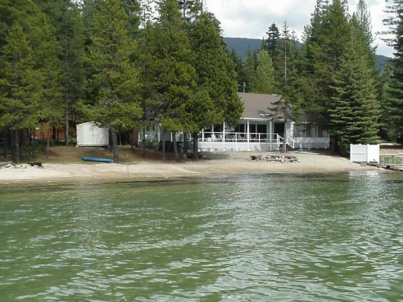 """From the lake - Prime Waterfront, """"The Beach House Steamboat Bay"""" - Priest Lake - rentals"""