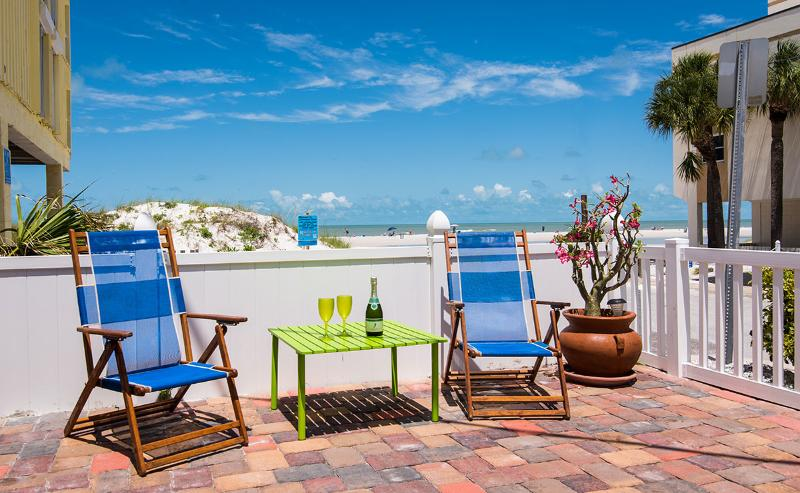 Great View of the Beach From Patio - Clearwater Beach Cambria House - Clearwater - rentals