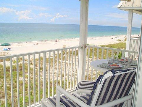 Beach from Balcony - The Penthouse at Sea Isles - Indian Rocks Beach - rentals