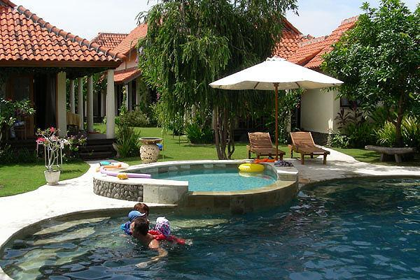 Main pool and kids pool from Bale, bedroom 2 to the left - The Vineyard Bali, North Bali - Singaraja - rentals