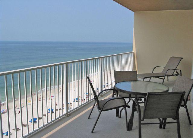 Balcony - Crystal Shores West 507 ~ Master Bedroom Views ~ Bender Vacation Rentals - Gulf Shores - rentals