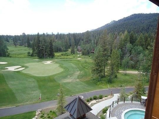 4th floor views of the lake, golf course, pool and mountain - Lodge 405A One Bedroom, Two Bath Condo. Sleeps 6. WIFI. - Tamarack Resort - rentals