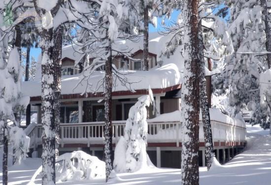 Star Gazer front of the cabin winter - Star Gazer- 2 Bedroom Vacation Rental in Big Bear Lake - Big Bear Lake - rentals
