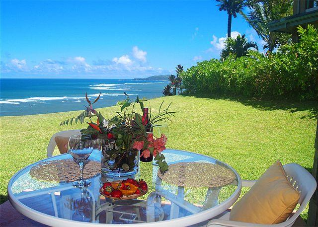 Sealodge J1: Oceanfront and private 2br/2ba, more like a cottage than a condo - Image 1 - Princeville - rentals