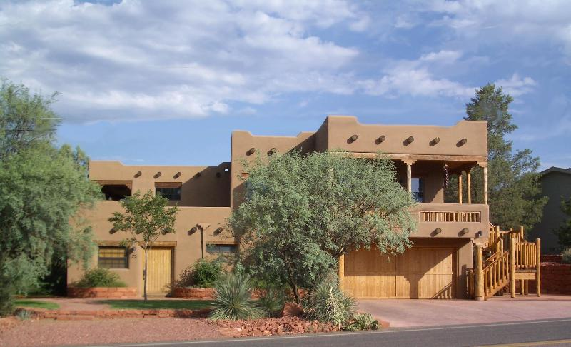 Our home on left, 2 suites on right - Luxurious Cathedral Suite by Red Rock Crossing - Sedona - rentals