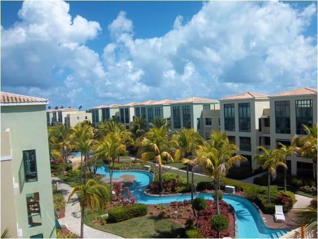 View of Lazy River from Above - Puerto Rico Vacation Villas at Aquatika - Loiza - rentals