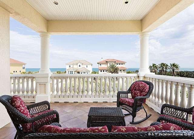 Invite everyone up to the 3rd floor patio for lunch - Florence By the Sea, Elevator, Private Pool, 6 bedrooms, HTDVs - Palm Coast - rentals