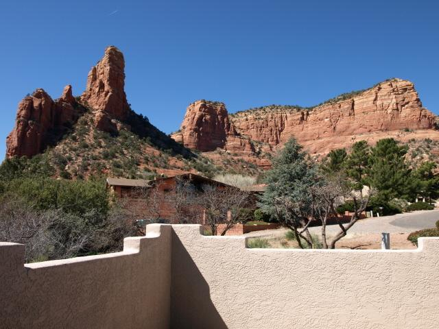 View from front patio and great room - Renovated Solar Power Home w/Amazing Red Rock View - Sedona - rentals