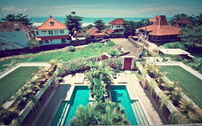 View from the roof - Pantai Indah Villas - 4 Bedroom Villa by the Beach - Canggu - rentals
