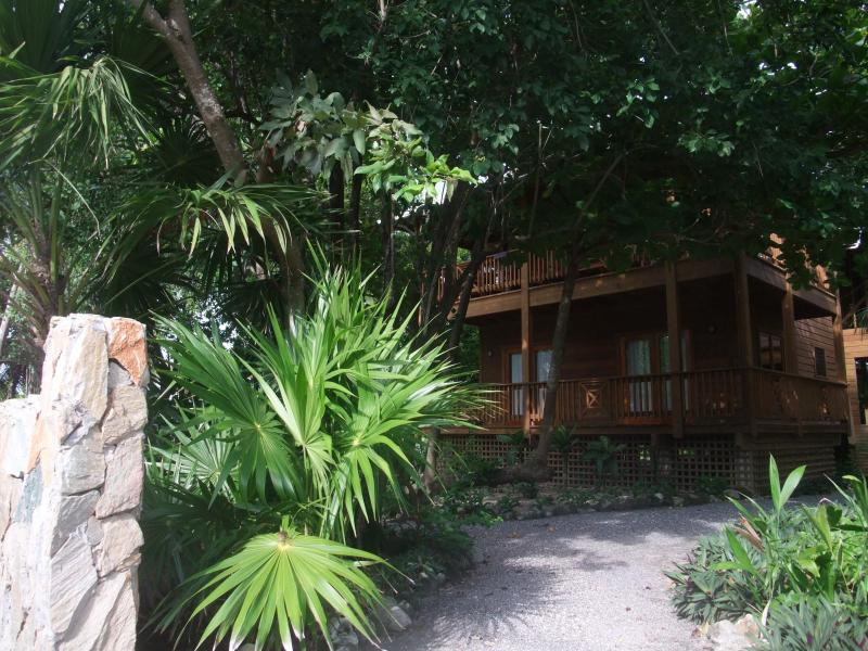 "View of Cocolobo Lodge from the street - Cocolobo Resort ""Lodge A""  TOP VACATION RENTAL!!! - West End - rentals"
