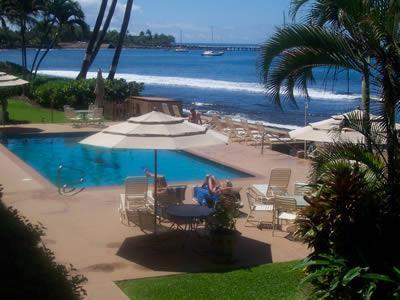 Pool Area - OCEANFRONT 1 BEDROOM CONDO  SPECTACULAR VIEWS! - Lahaina - rentals