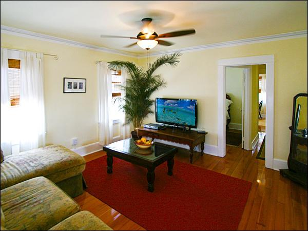 Large Family Room ~ 47 inch LED HDTV ~ High Speed Wi-Fi ~ HBO, Showtime, Cinemax - Venice Beach Sunny Garden Paradise. Steps to Beach - Los Angeles - rentals