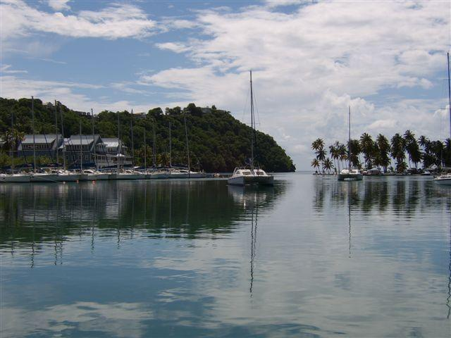 View across Marigot Bay to Marina Village - Two bedroom apartment in the heart of Marigot Bay - Marigot Bay - rentals
