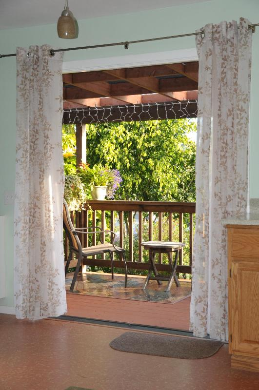 french doors opening onto private covered redwood deck - Charming one bedroom cottage near Gaslamp Dist. - Pacific Beach - rentals