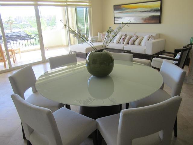 Dining and Living area with TV and Stereo - Near Medano Beach - Puerta Cabos Village Condo - Cabo San Lucas - rentals