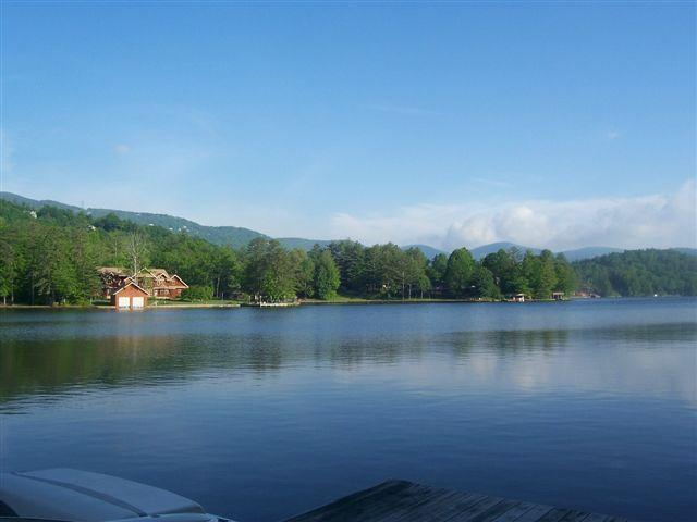 View from our dock - Lakefront home on private lake in mtns. of WNC! - Lake Toxaway - rentals