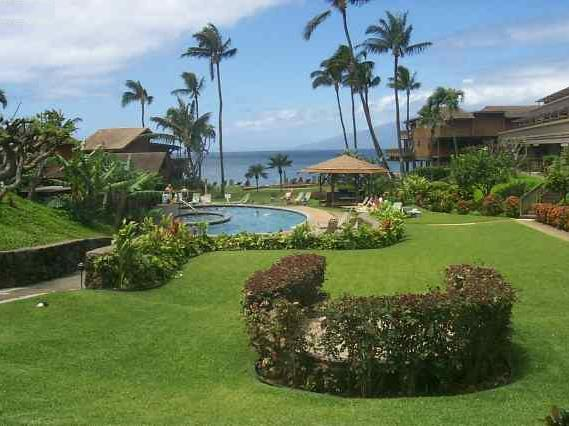 View - 1-bedroom ocean view condo at Kahana Sunset - Lahaina - rentals