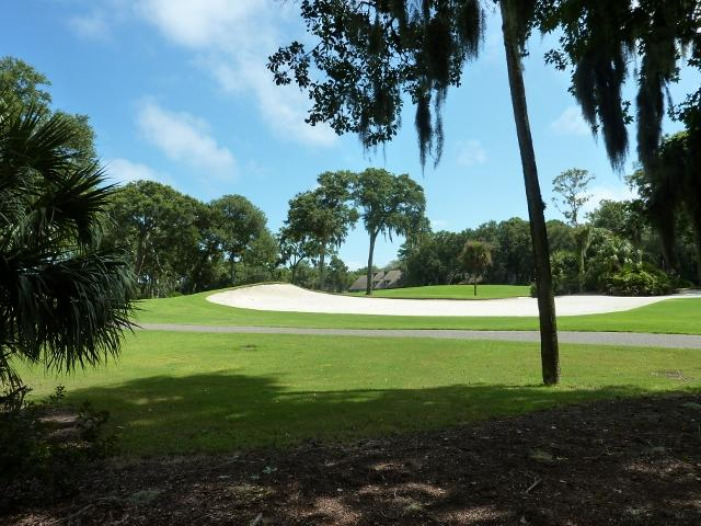 Beauiful Golf view, Fazio 18th tee - Beautiful Ocean Walk Villa, Free Tennis - Hilton Head - rentals