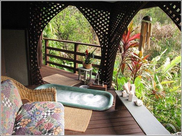 Private outdoor bathtub - Hawaii Nature Retreat - Pahala - rentals