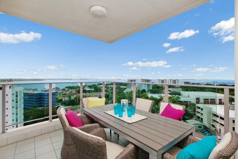 Relax on the outdoor setting  on the balcony and enjoy our balmy weather and the views! - Beachlife Sea Spray Sleeps 8   Luxury Condo  Sea V - Darwin - rentals