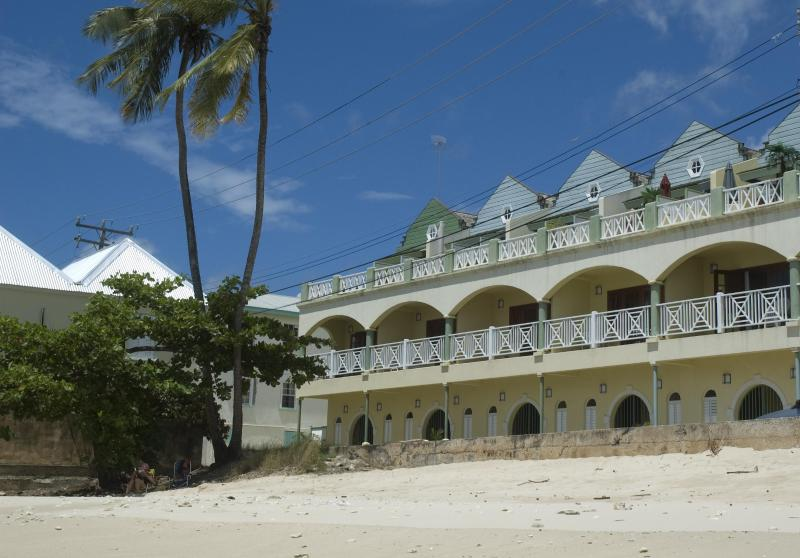 White Sands from the beach. Coral Sands apt. is to the left. - Coral Sands beachfront apt., Barbados, stunning West Coast - Speightstown - rentals