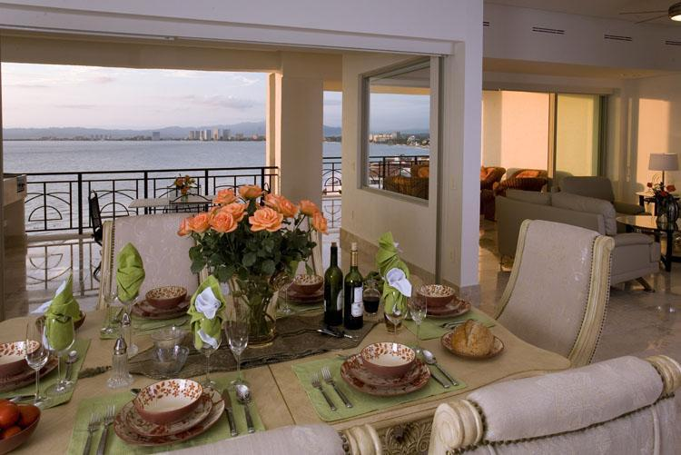Formal dining area. - Oceanfront Luxury in the Heart of Puerto Vallarta! - Puerto Vallarta - rentals