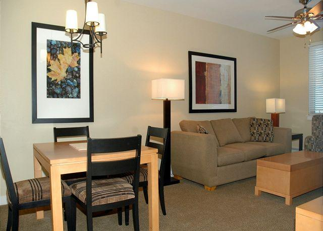 Living area w/sofa sleeper + Dining area w/Seating for 4 People - Walk to the slopes from this Founders Point one bedroom. - Winter Park - rentals