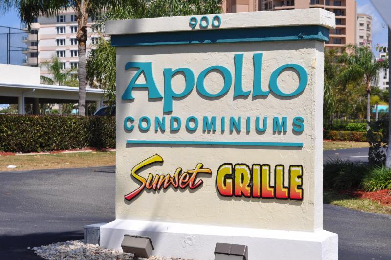 enterance from the road - Beachfront condo at Apollo, Marco Island, Fla - Marco Island - rentals