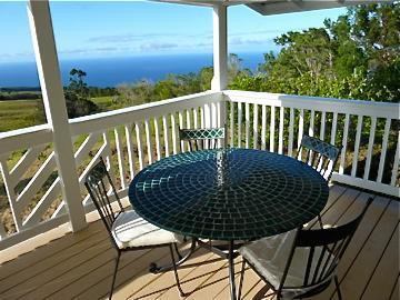 Front Lanai and View - Beautiful, Newly Renovated, Panoramic Ocean View - Laupahoehoe - rentals