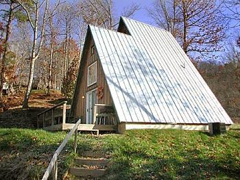 Monteith A-Frame - Honeymooners Choice - The Monteith Cabin - Bryson City - rentals
