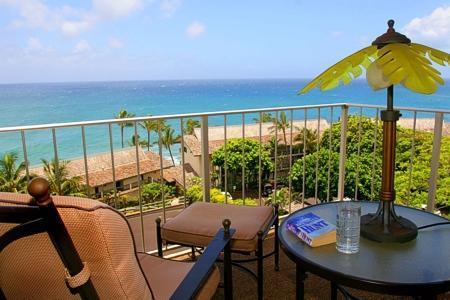 Ocean View from Lanai - Poipu Beach, Kauai, OCEAN VIEW 2BR - Poipu - rentals
